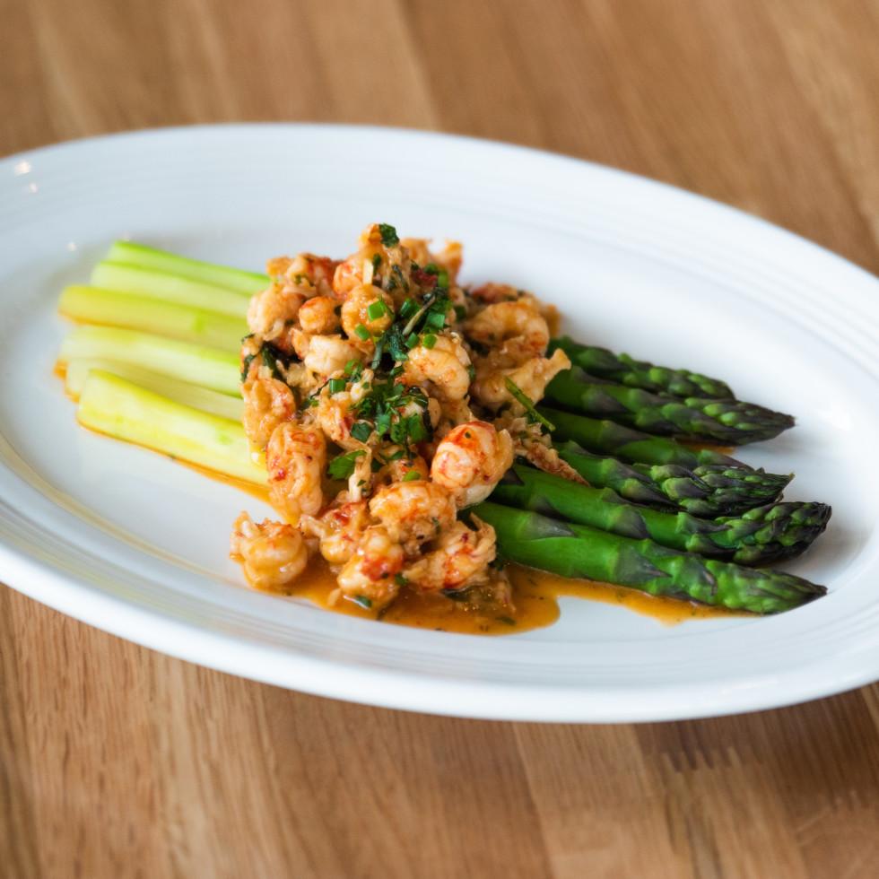 Austin Cookbook Cafe asparagus crawfish