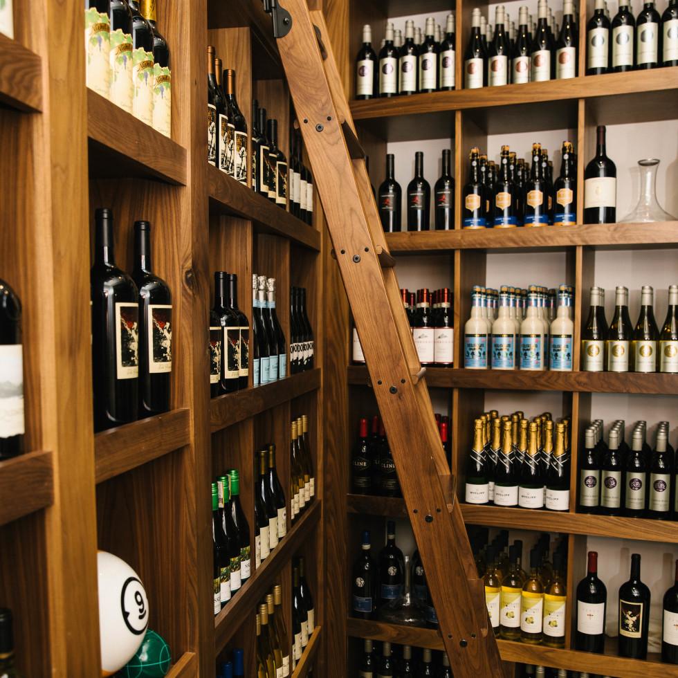 Pinstripes wine cellar