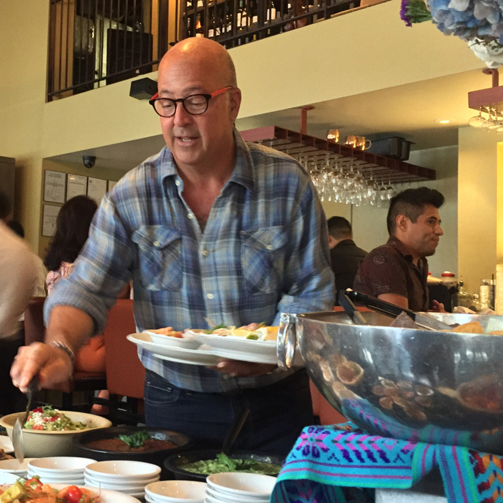 Andrew Zimmern at Hugo's