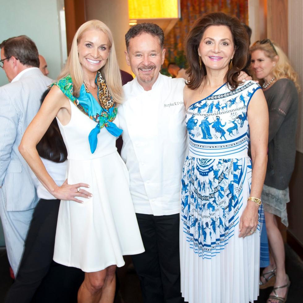 Maggie Kipp, Chef Stephan Pyles, Melinda Knowles