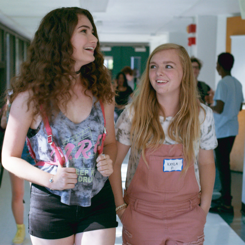 Emily Robinson and Elsie Fisher in Eighth Grade