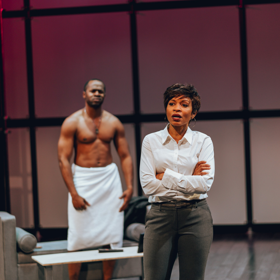Telvin Griffin and Kenneisha Thompson in King Liz at Amphibian Stage Productions