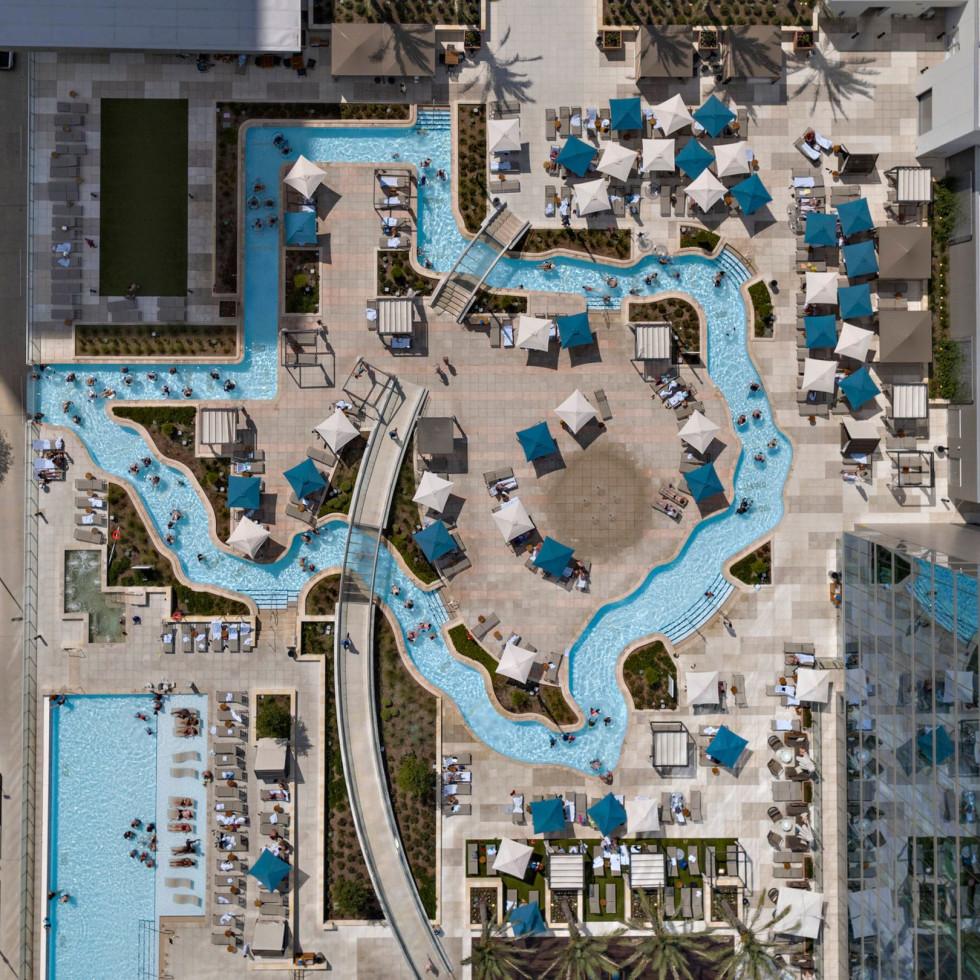 Texas-shaped lazy river