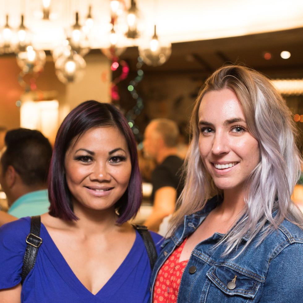 The Center Bar Leslie Nguyen and Erin Delaney
