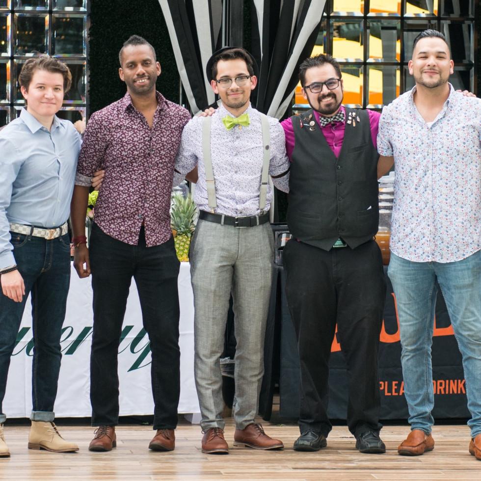 ZaZa Cocktail Showdown Arturo Jimenez, Ryan Perry, Zach Churbok, Patrick Abalos, Jonathan Gallardo