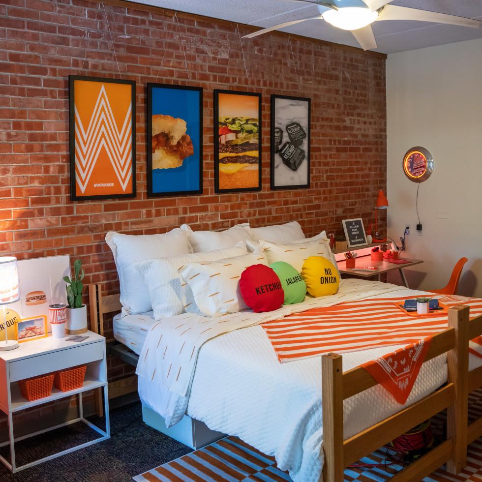 Whataburger dorm room bed