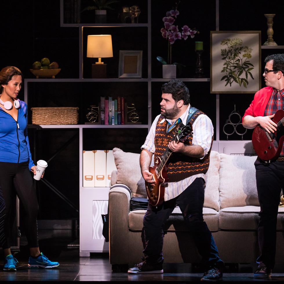 Emily Borromeo, Rob Colletti and Matt Bittner in the School of Rock Tour