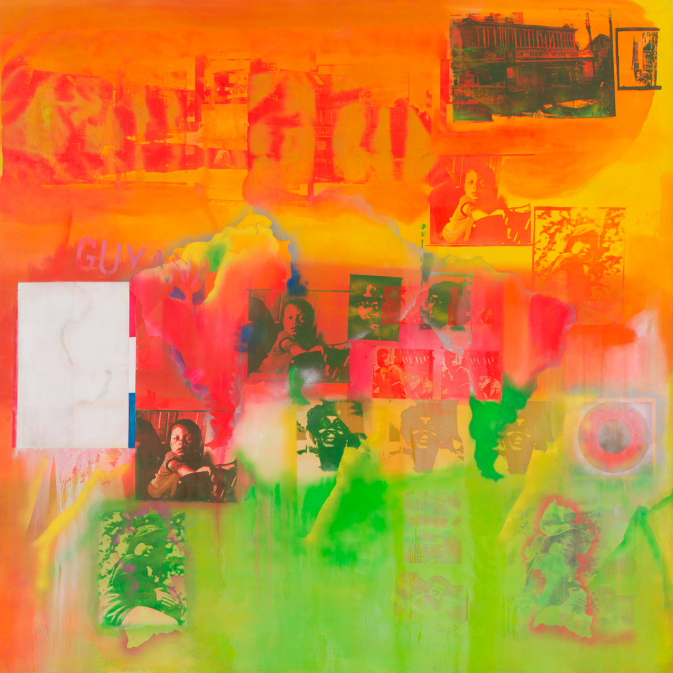 Menil Collection: Frank Bowling, Middle Passage