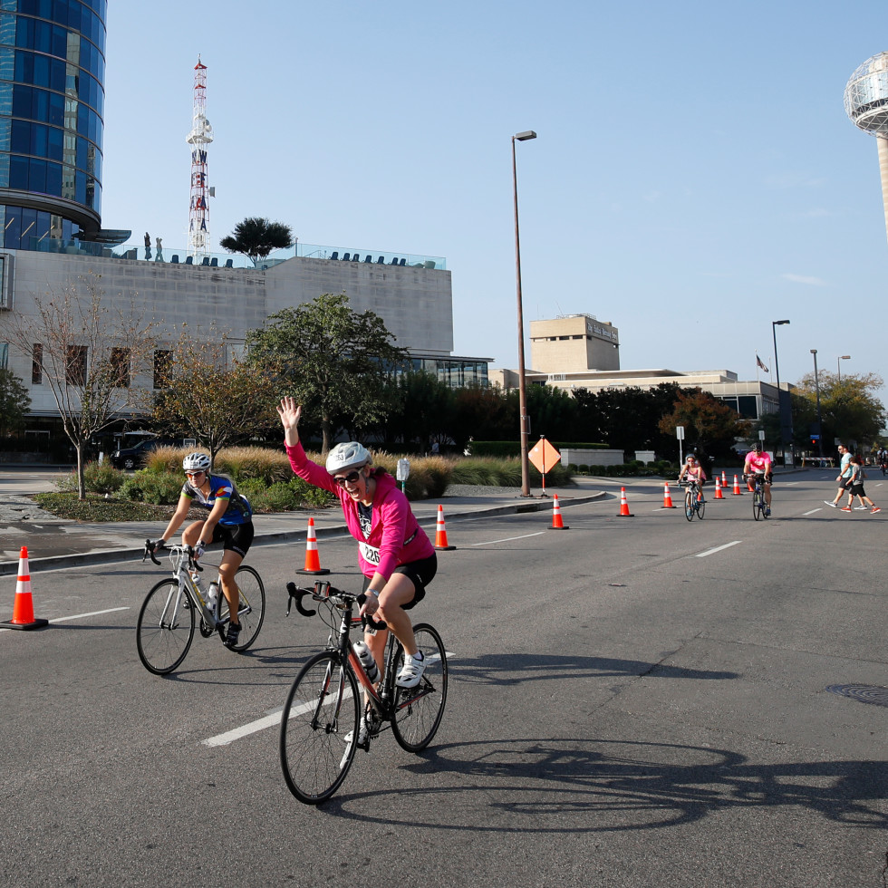 Dallas Bike Ride by Reunion Tower