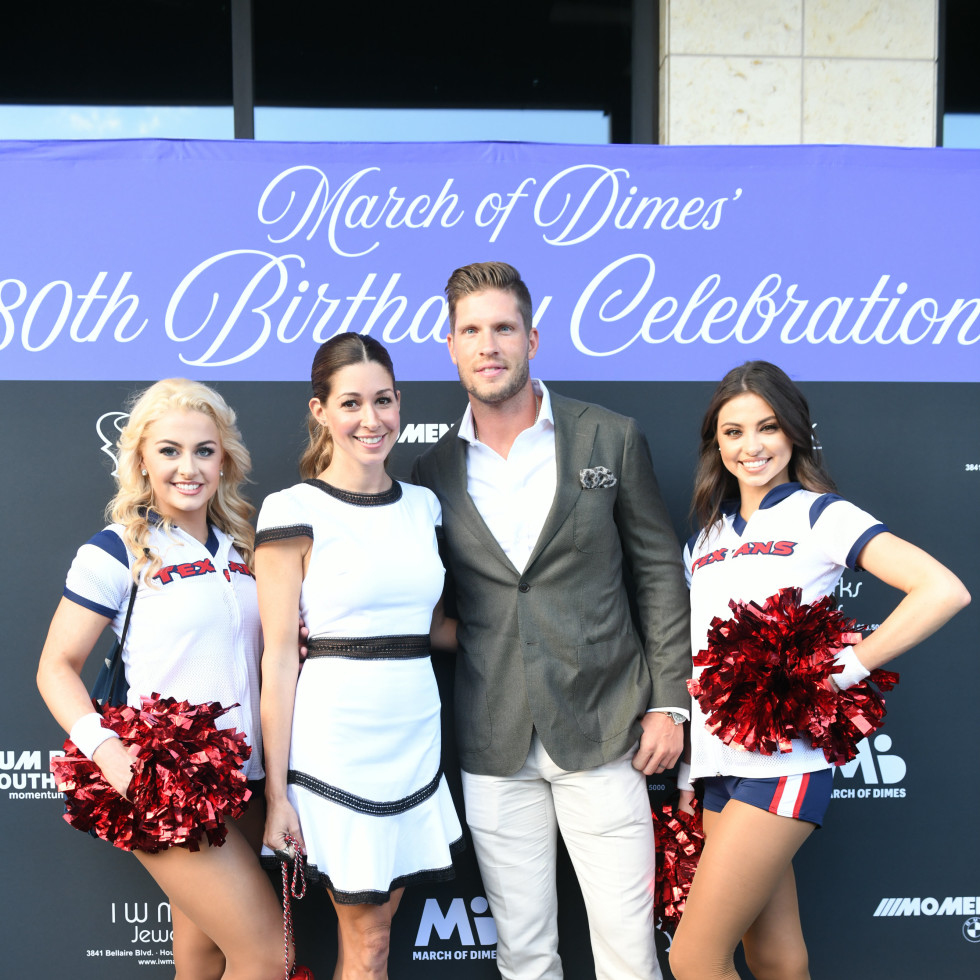 Houston Texans March of Dimes Caroline and Kevin Walters