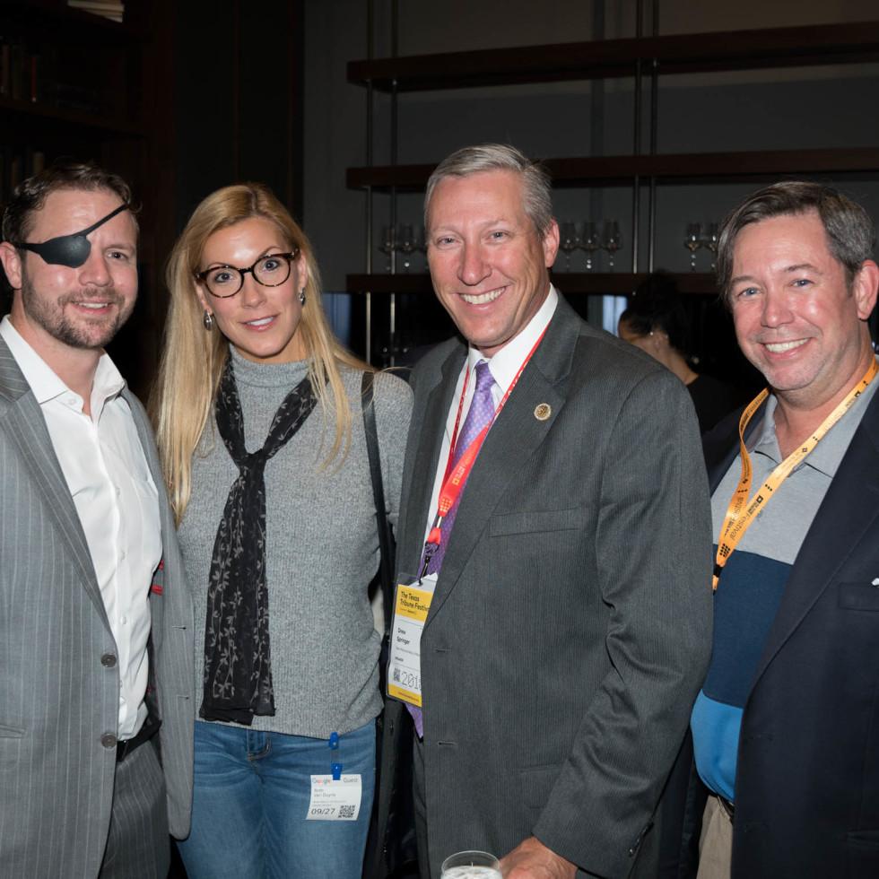 Texas Tribune Festival 2018 VIP Party at Google Dan Crenshaw Beth Van Duyne Drew Springer Chad Willbanks