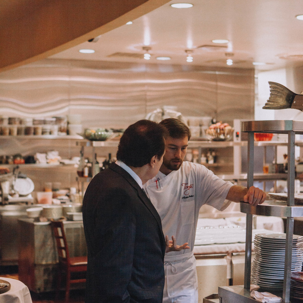 Tony Vallone and Chef Austin Waiter