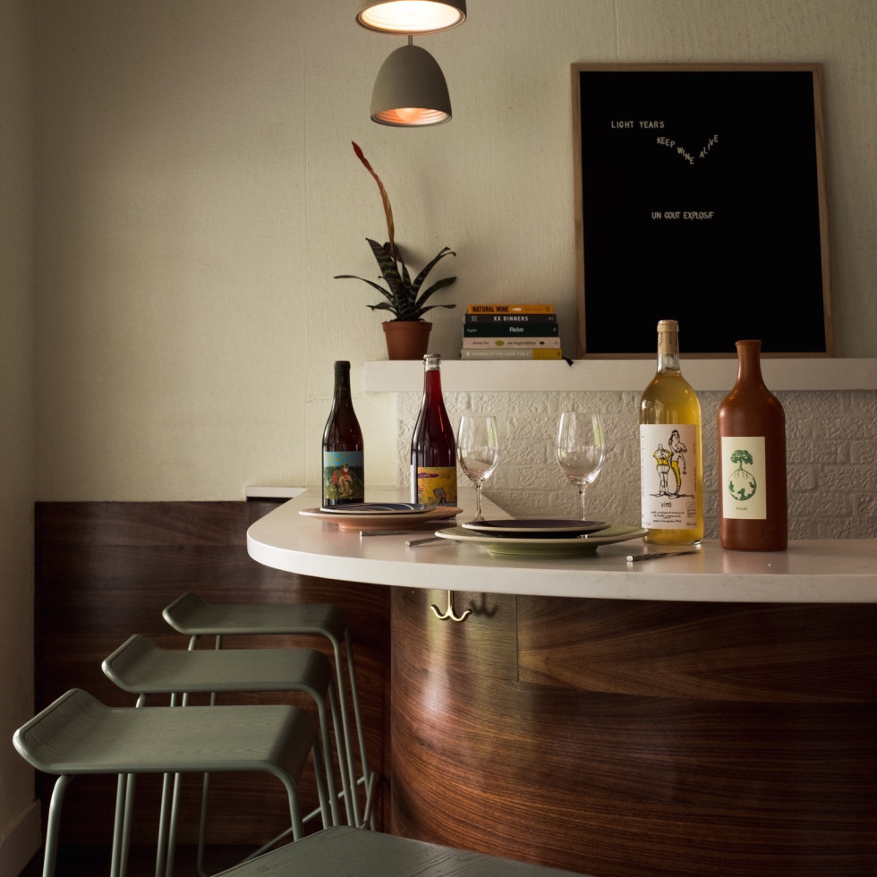 Light Years wine bar interior
