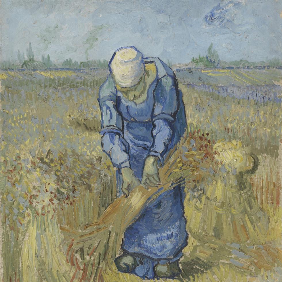 MFAH:Vincent van Gogh: His Life in Art, Peasant Woman Binding Sheaves (after Millet)
