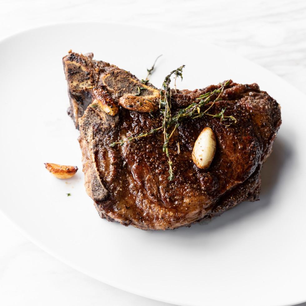 Georgia James steakhouse bone-in strip loin