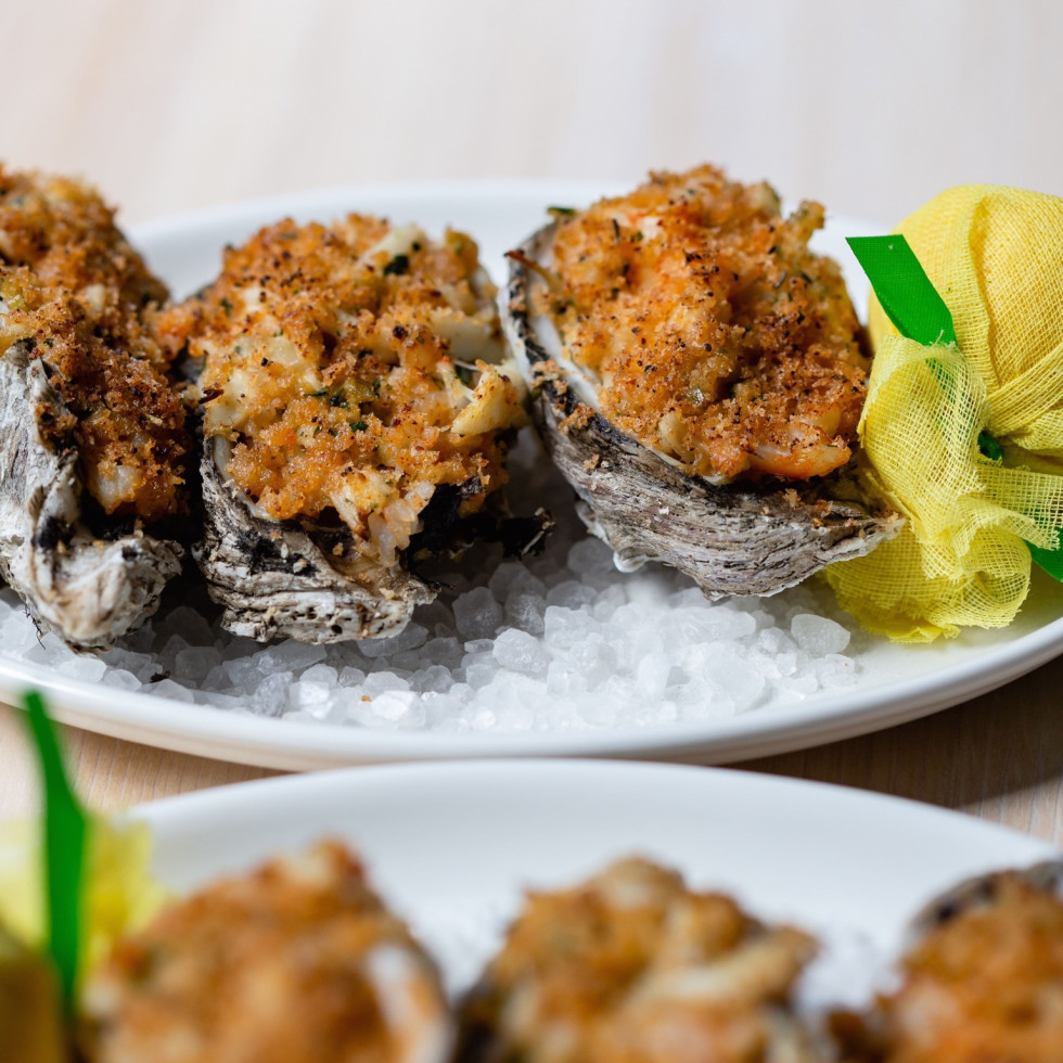 Eunice hearth roasted oysters