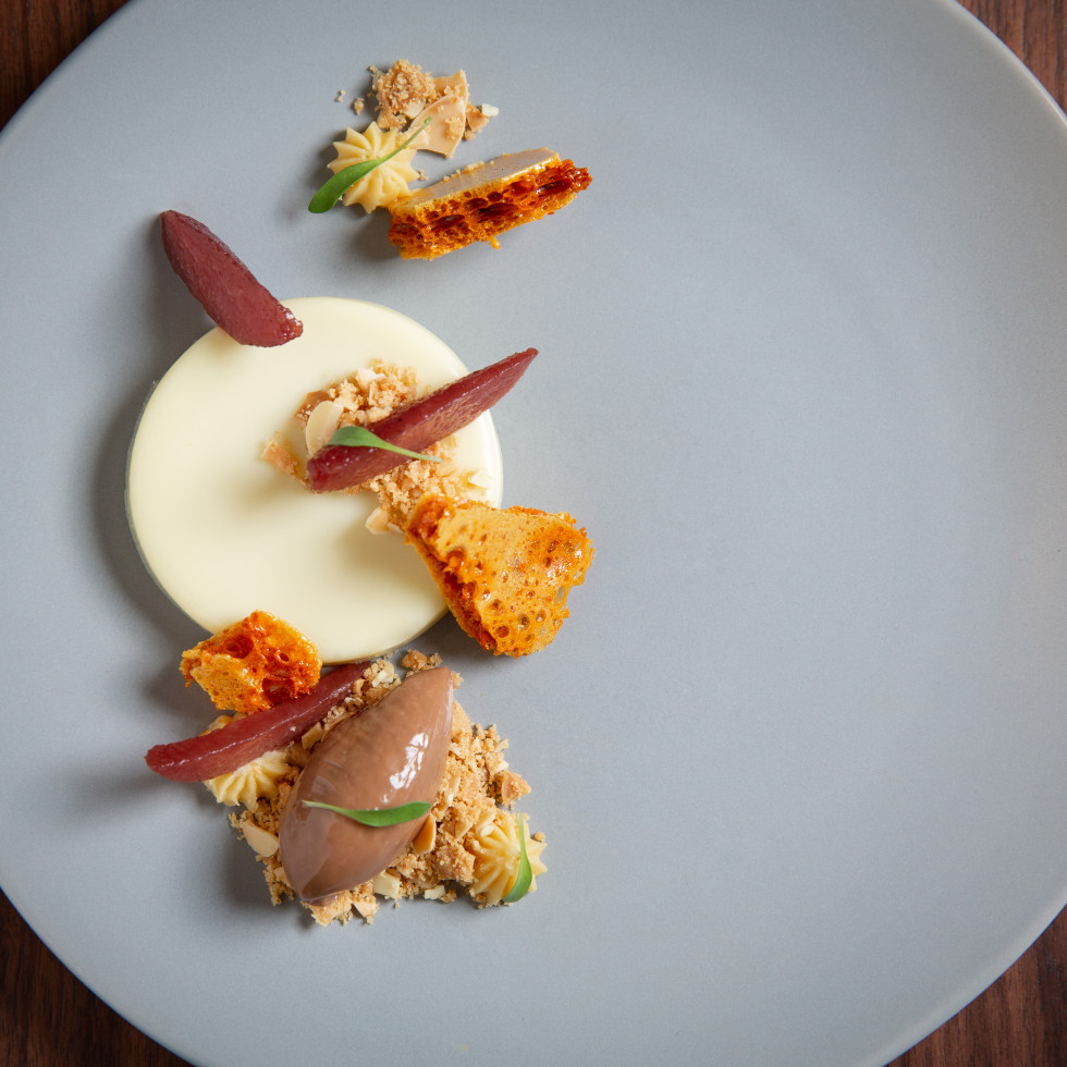 Olive oil panna cotta from Ciclo