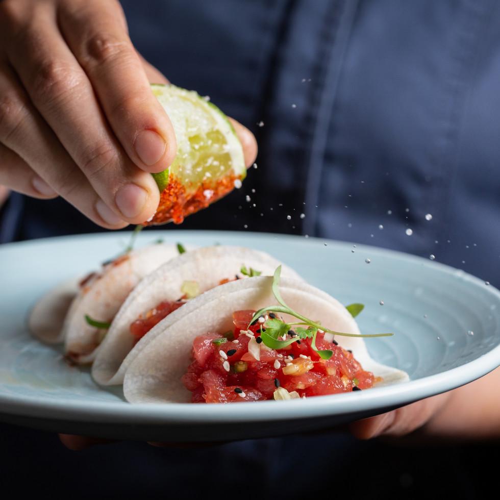 Tuna tartar tacos from Ciclo