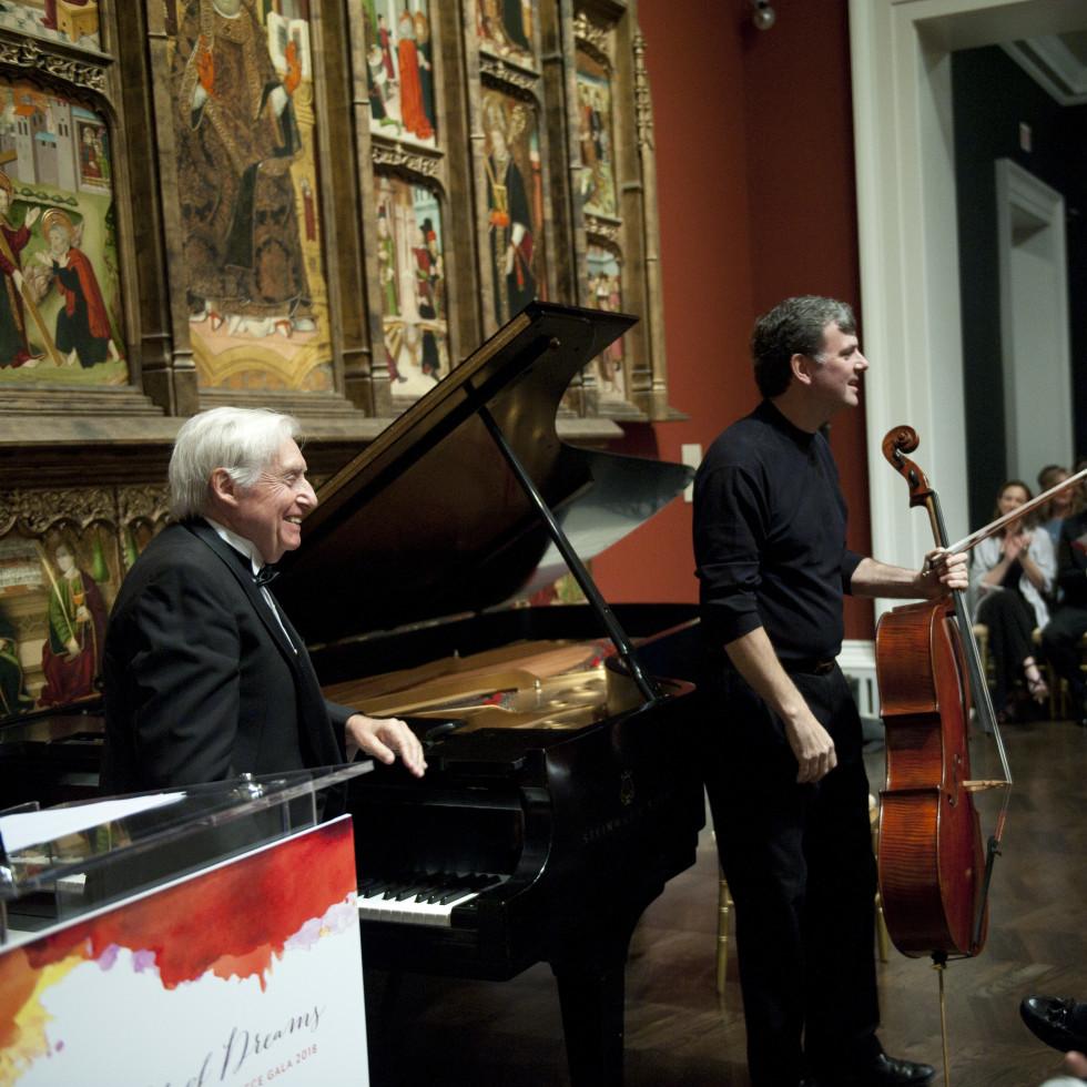 Joaquín Achúcarro (pianist) and Andrés Díaz (cellist)