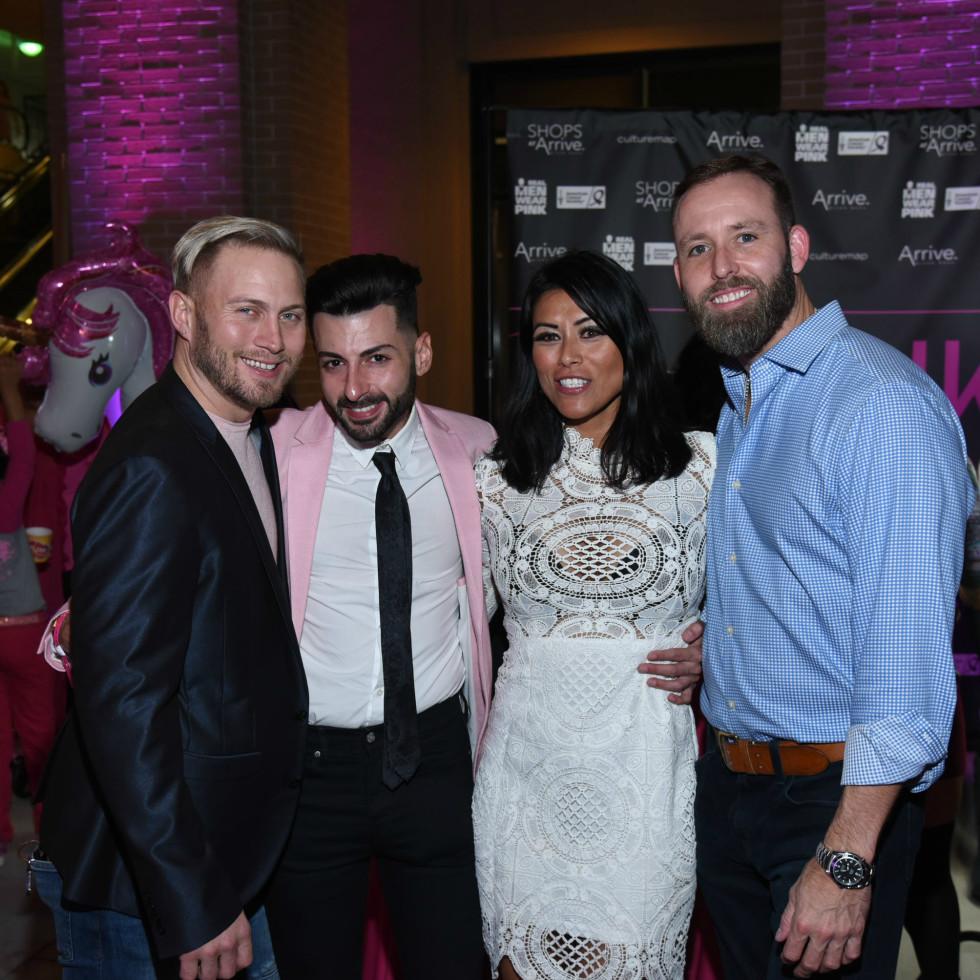 Pink Party 2018 West Ave Jeremiah gowen. Nicholas sinopoli. CJ joiner. Bryan turner.