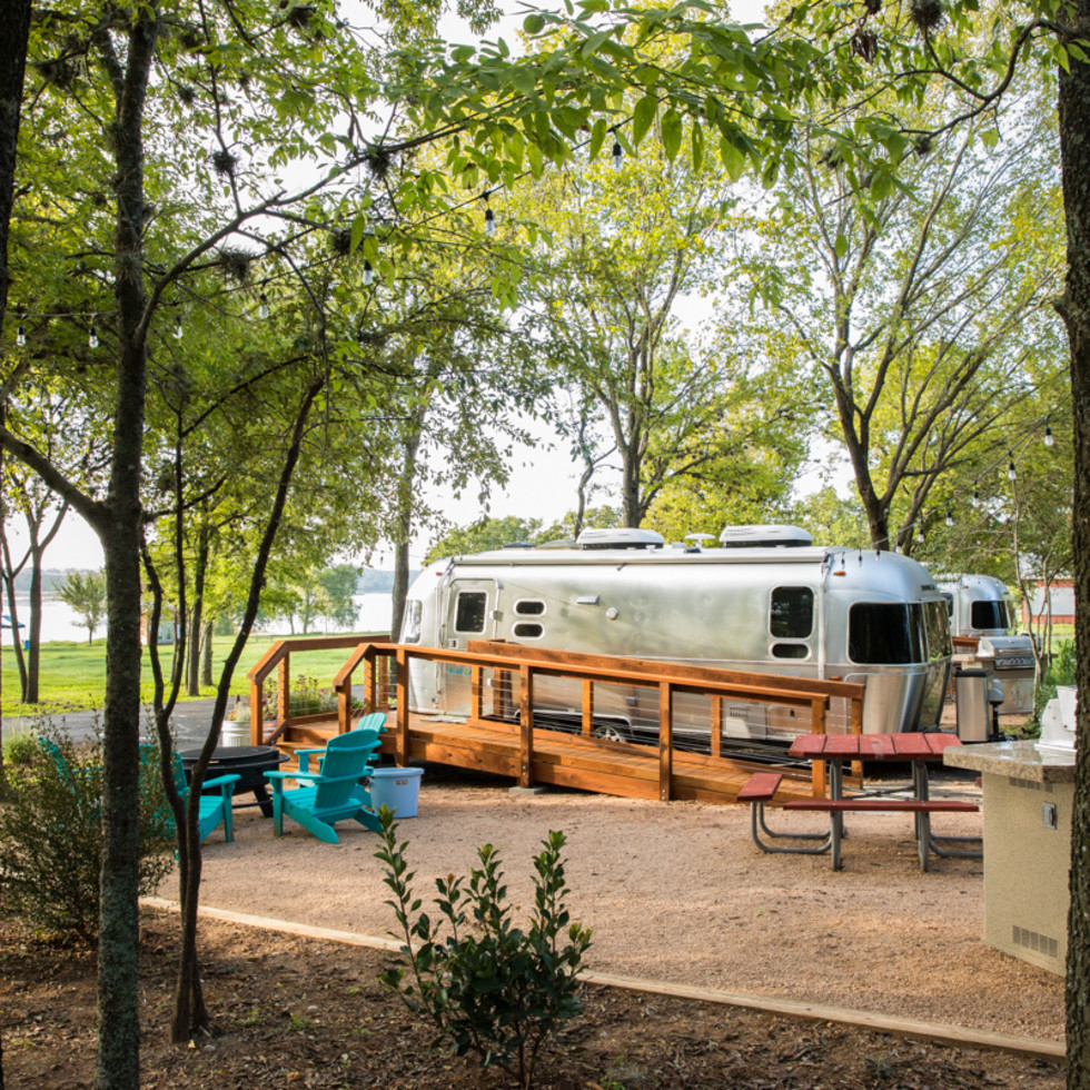 LCRA Lake Bastrop airstream trailer
