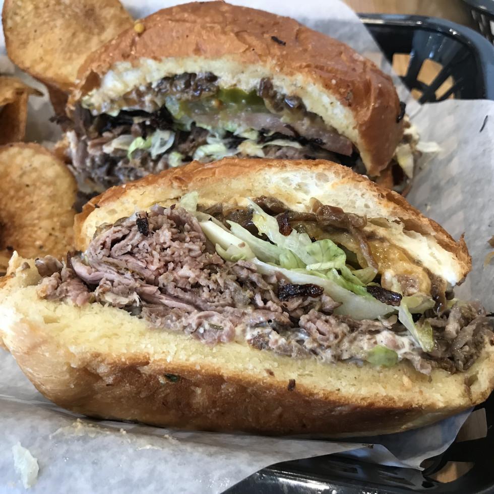 Rhotey Rotisserie beef sandwich