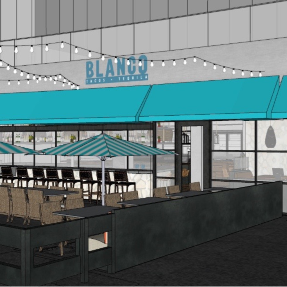 Blanco tacos and tequila Houston Galleria rendering