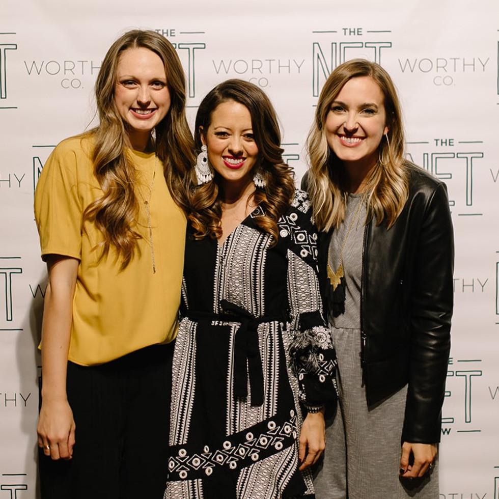 Eva Walker, Melissa Ice, Sarah Bowden, The Net Worthy Co. launch party