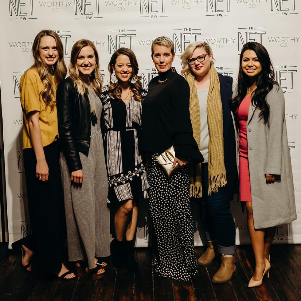 Eva Walker, Sarah Bowden, Melissa Ice, Holland Sanders, Alex Cambora, Karolam Ramirez, The Net Worthy Co launch party