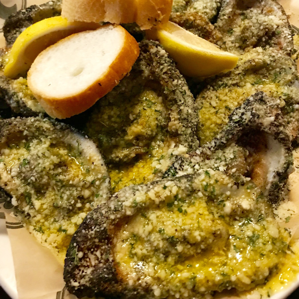 Neyow's Creole Cafe roasted oysters
