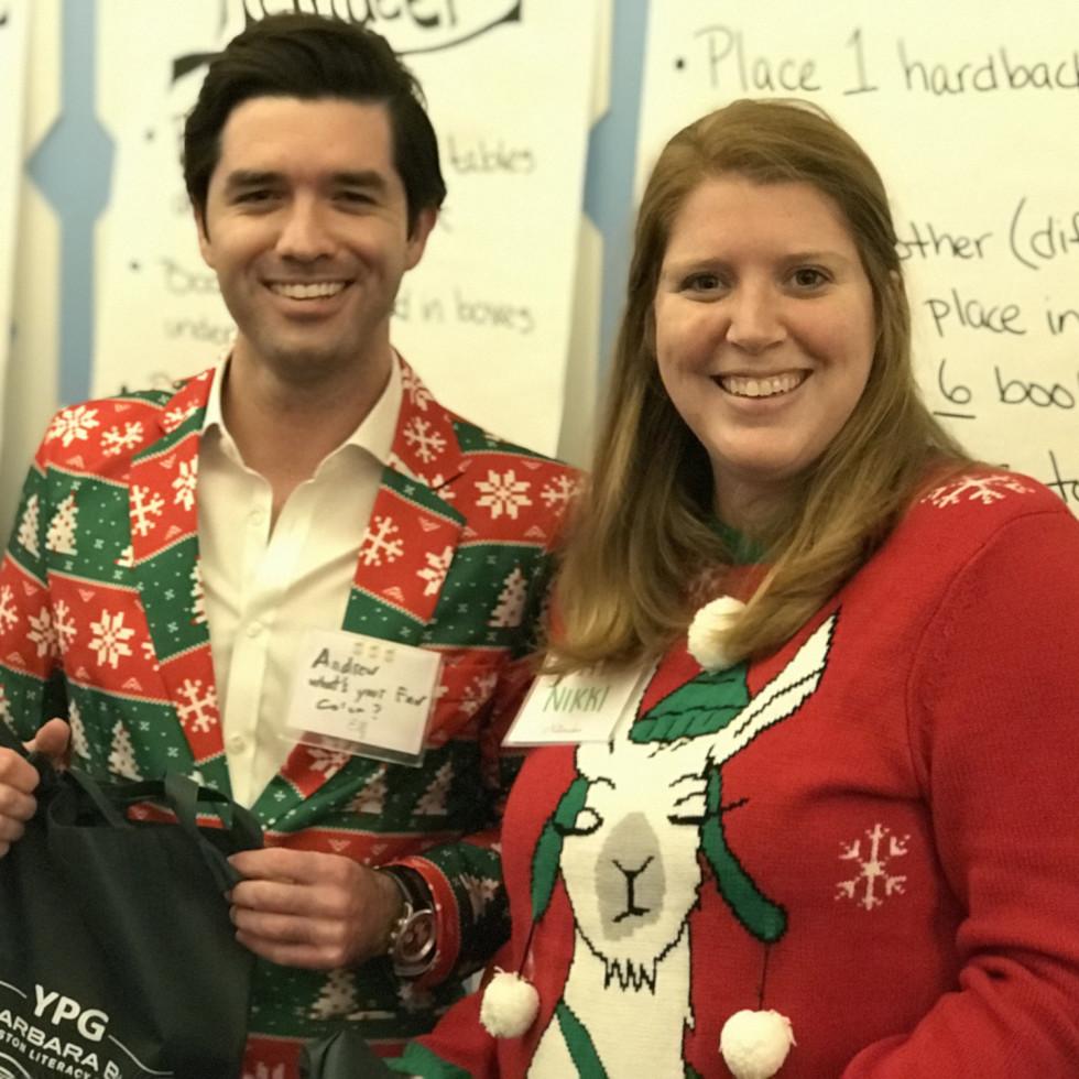 Barbara Bush Literacy Foundation Young Professionals Tacky Sweater