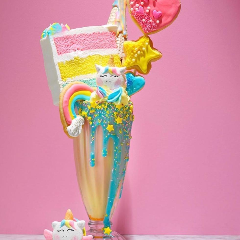 Magical Dessert bar unicorn milkshake