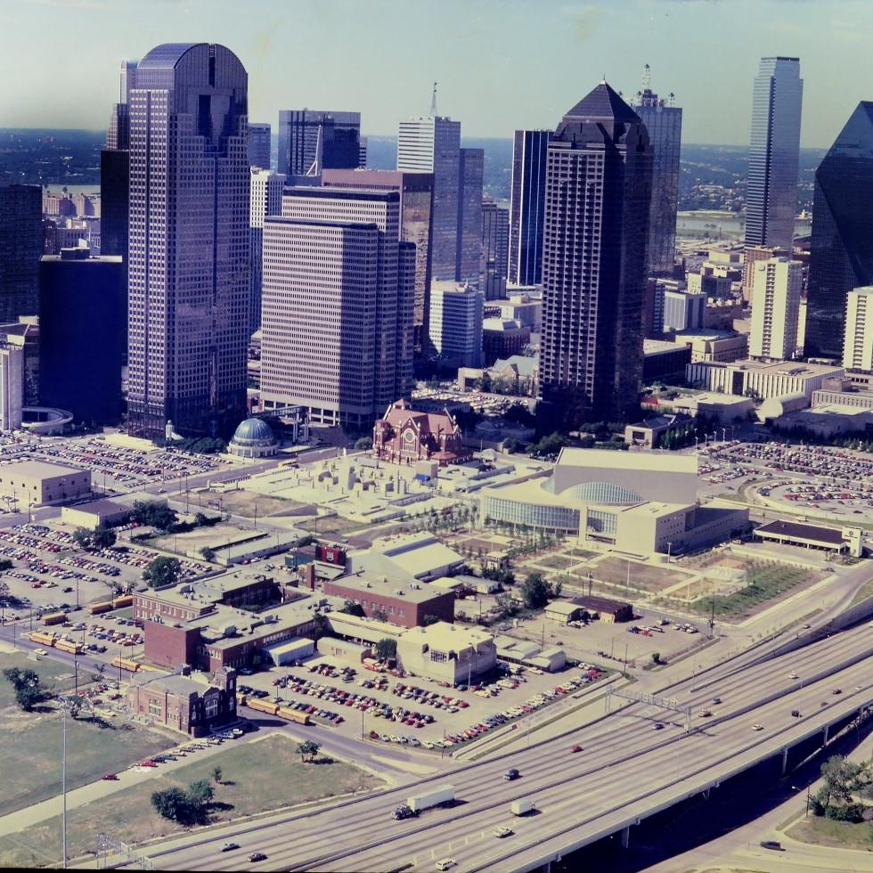 Dallas Arts District in 1980s