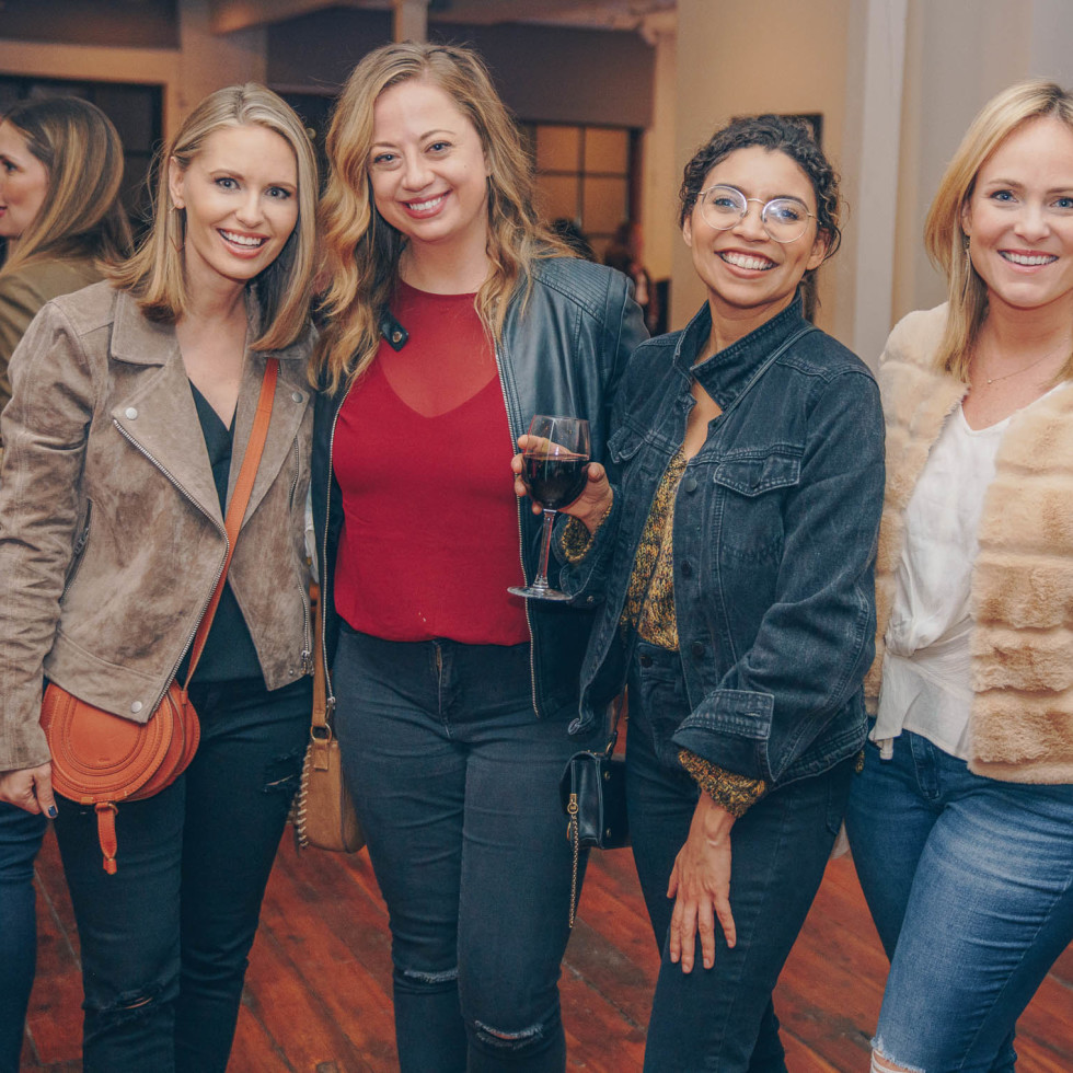 Bumble Understated Leather The Kindness Campaign VIP Event at Antone's Upstairs Lauren Petrowski Ali Marszalkowski Allee Bennett Erica Brennes