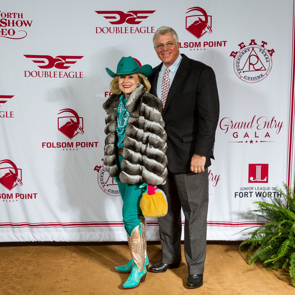 Fort Worth Stock Show Grand Entry Gala Elaine Agather, Neils Agather