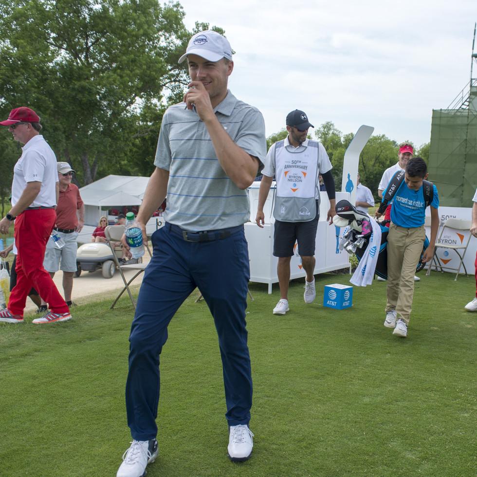 Jordan Spieth at AT&T Byron Nelson Golf Tournament