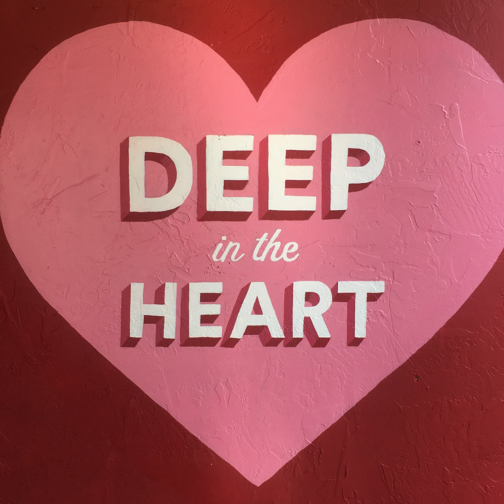 """""""Deep In The Heart"""" mural by Mariel Pohlman and Harley Barnes"""