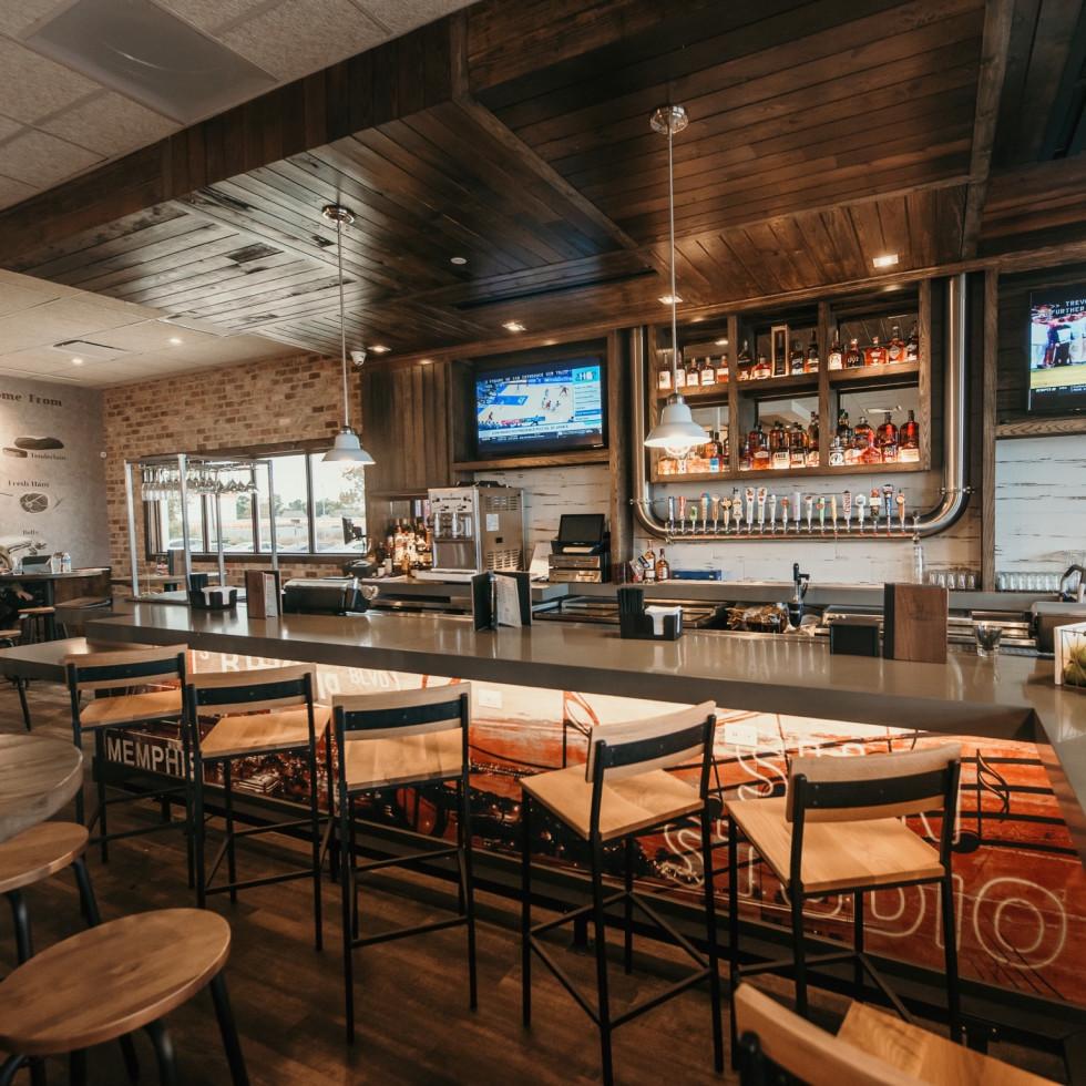 Corky's BBQ bar interior