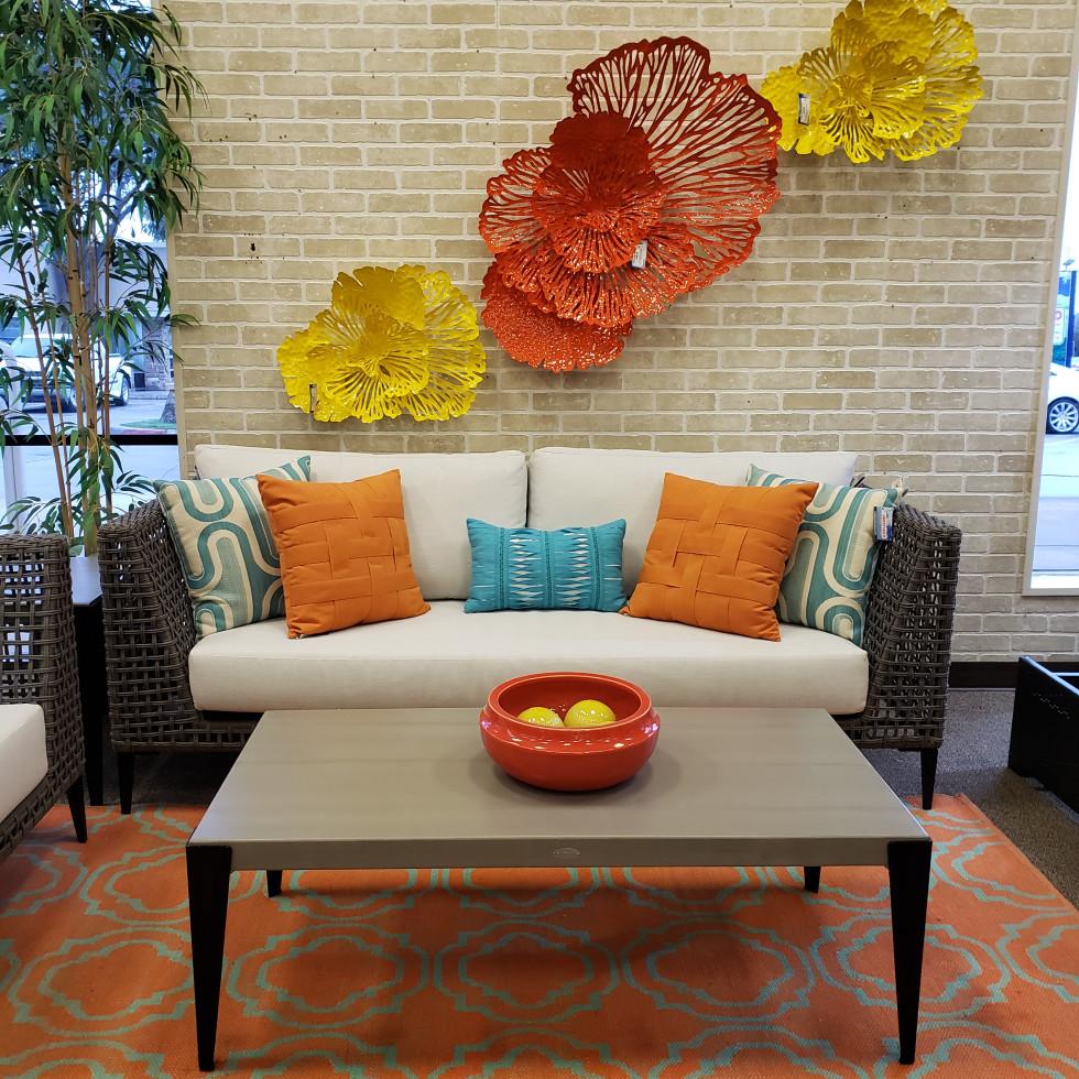 Indoor patio furniture display