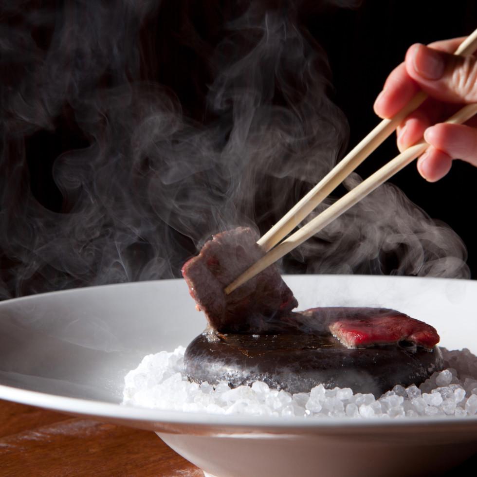 Uptown Sushi hot rock