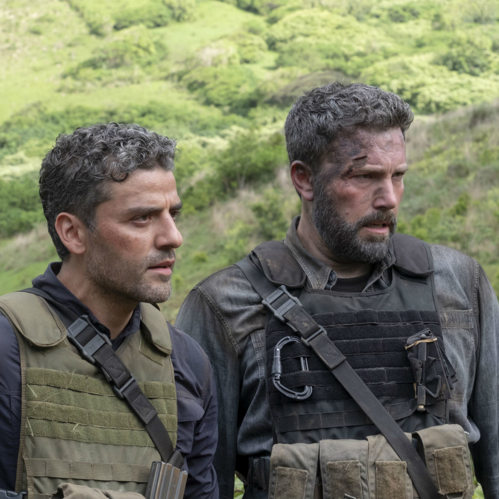 Oscar Isaac and Ben Affleck in Triple Frontier