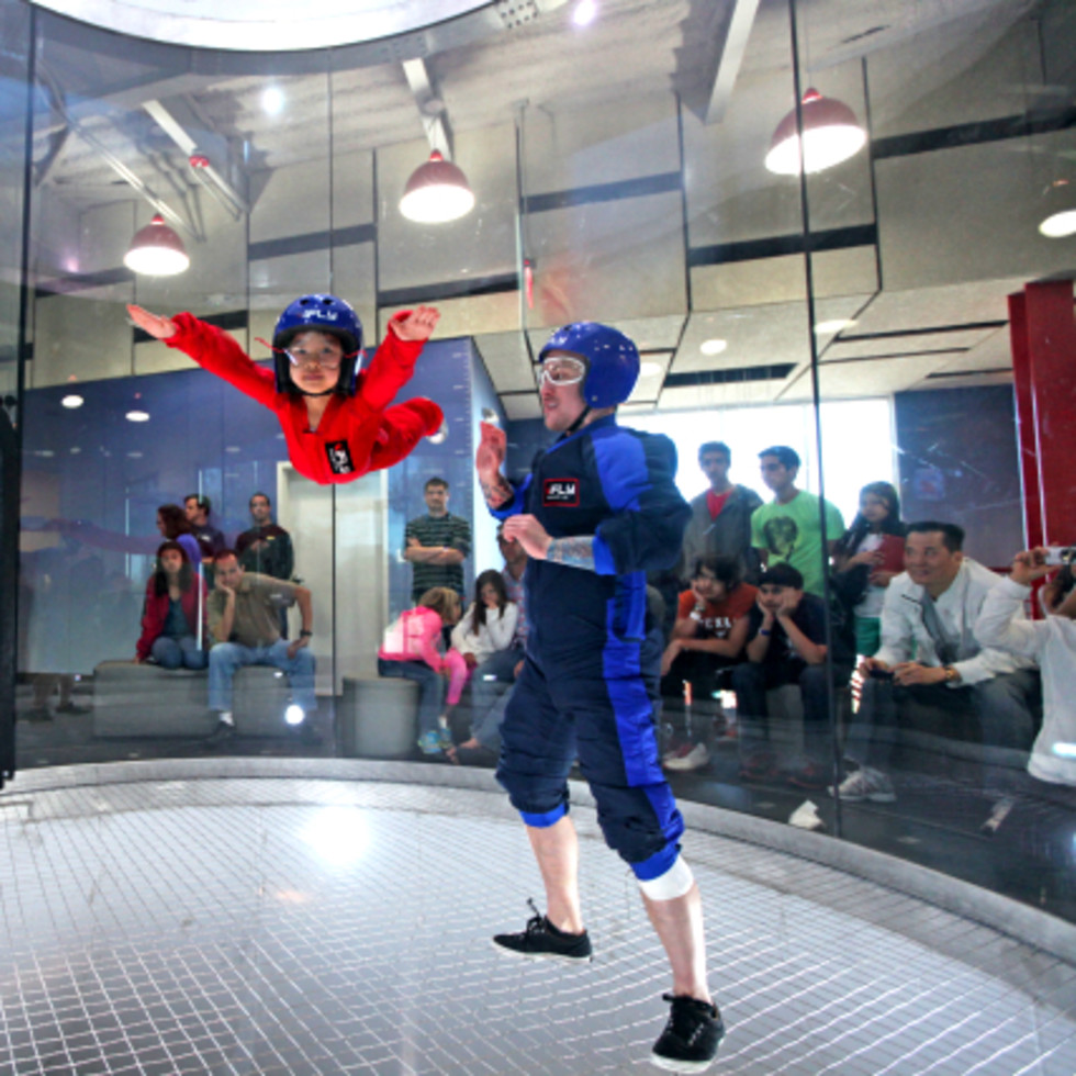iFLY kid floating