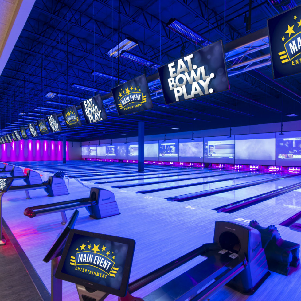 Bowling lanes at Main Event