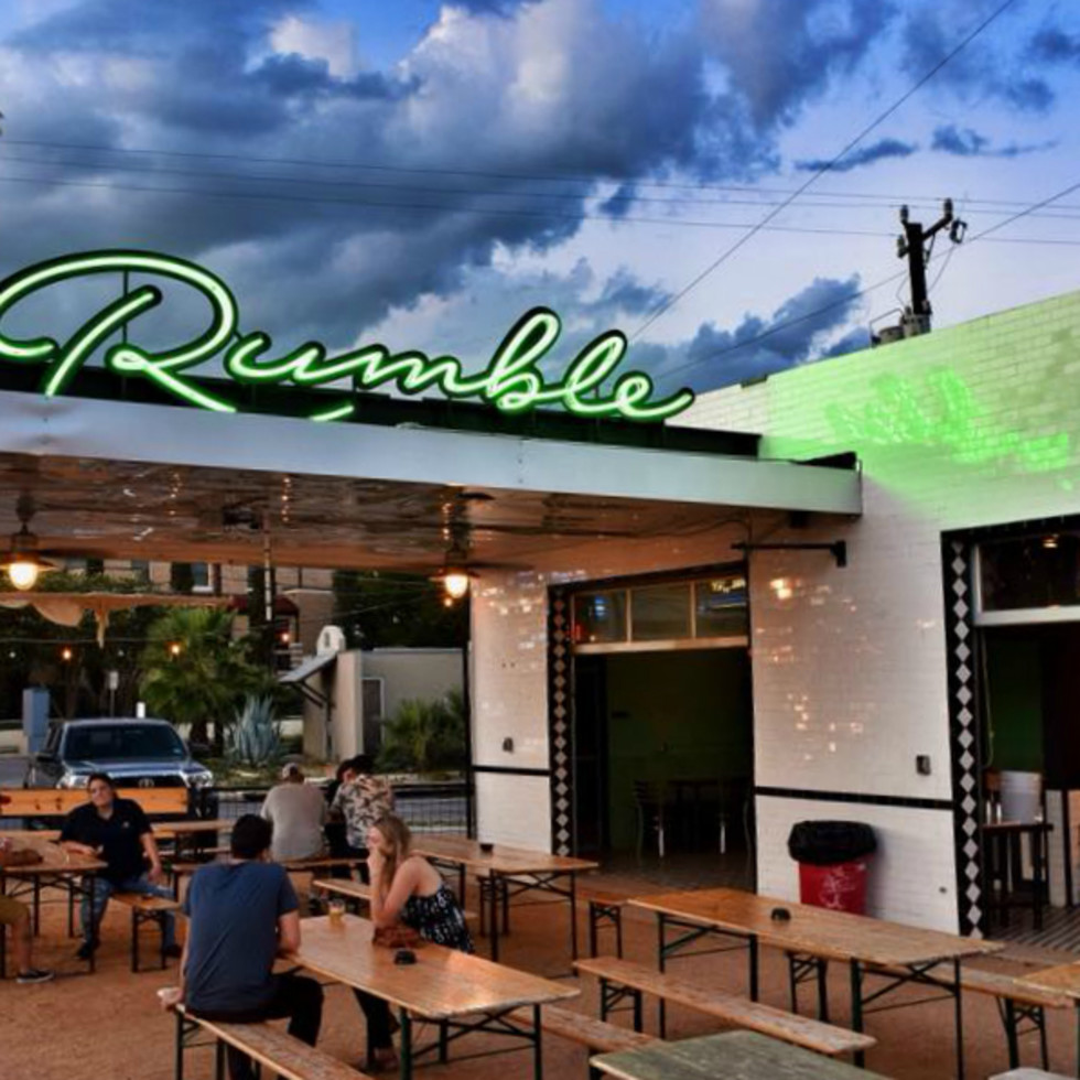 Rumble San Antonio patio