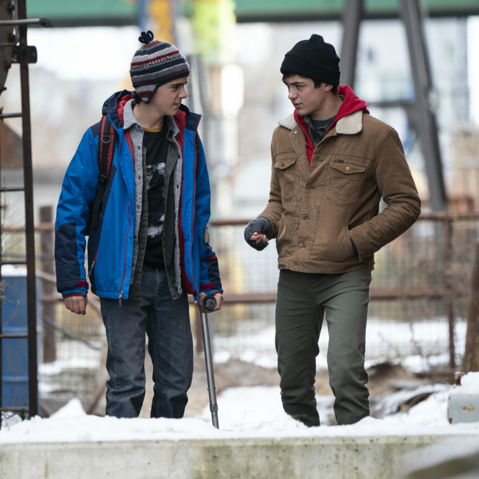 Jack Dylan Grazer and Asher Angel in Shazam!