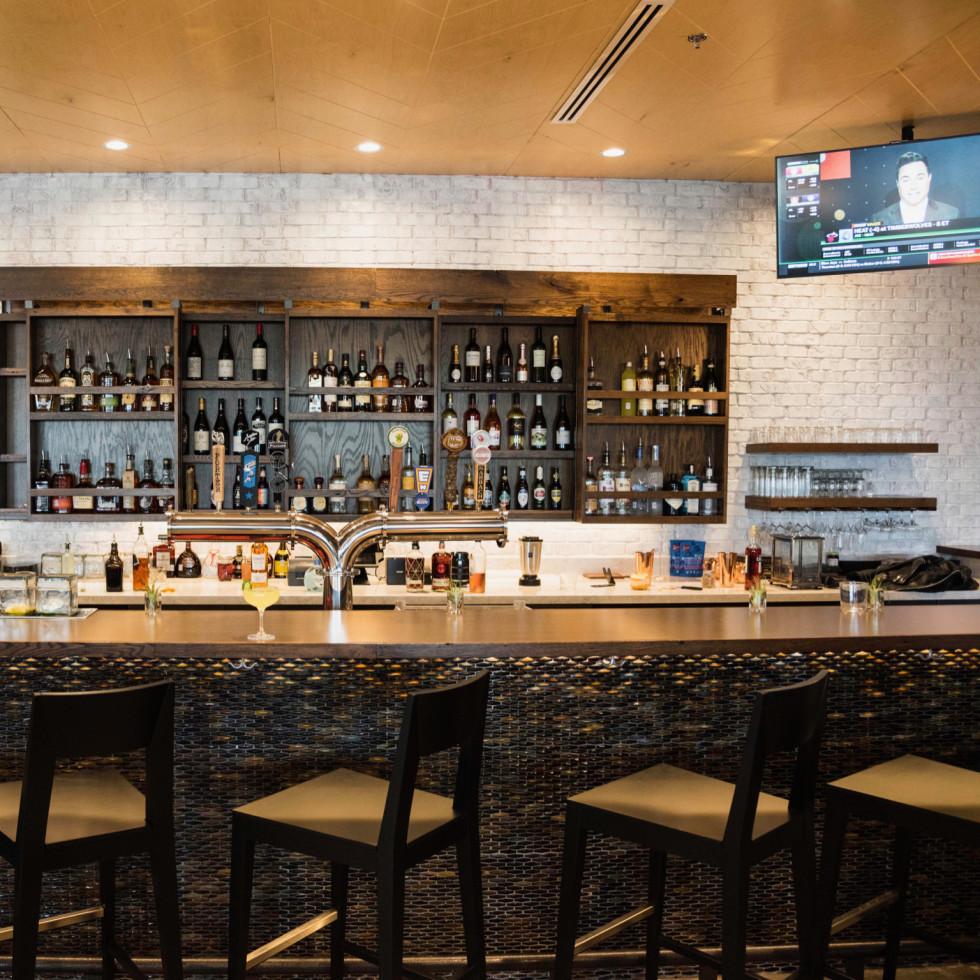The Roastery Briargrove bar interior