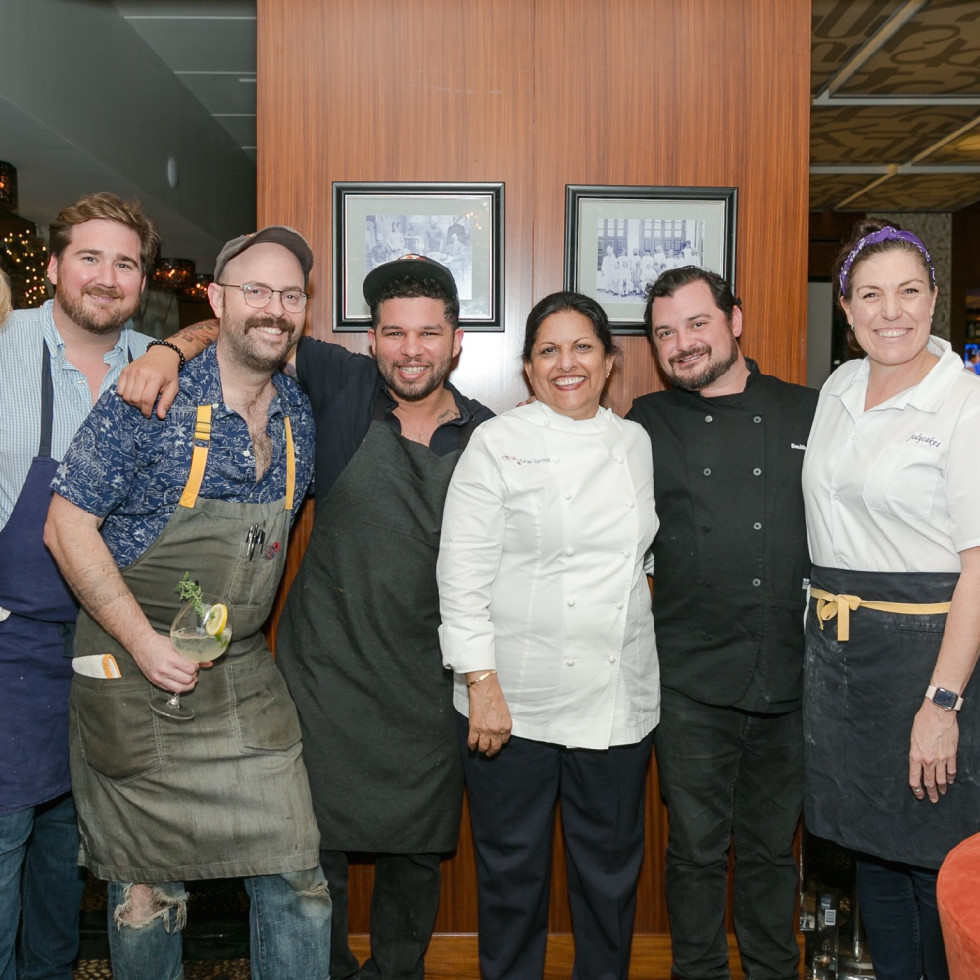 Urban Harvest Sunday Supper 2019 Janna Roberson Drake Leonards Martin Stayer Dominick Lee Kiran Verma David Cordua Jody Stevens Tyler Horne