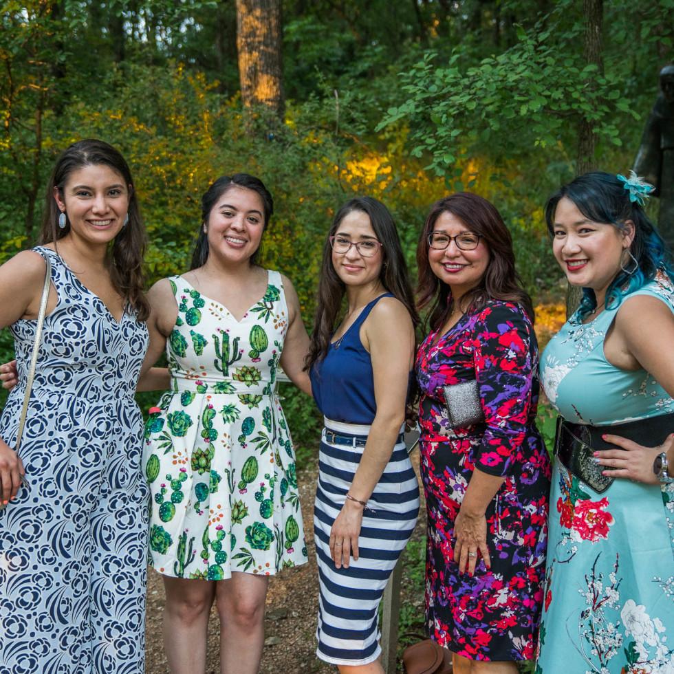 Umlauf Garden Party 2019 Felicia Pena Audrey Garcia Margarita Sevilla Tamara Jones Cat Duong