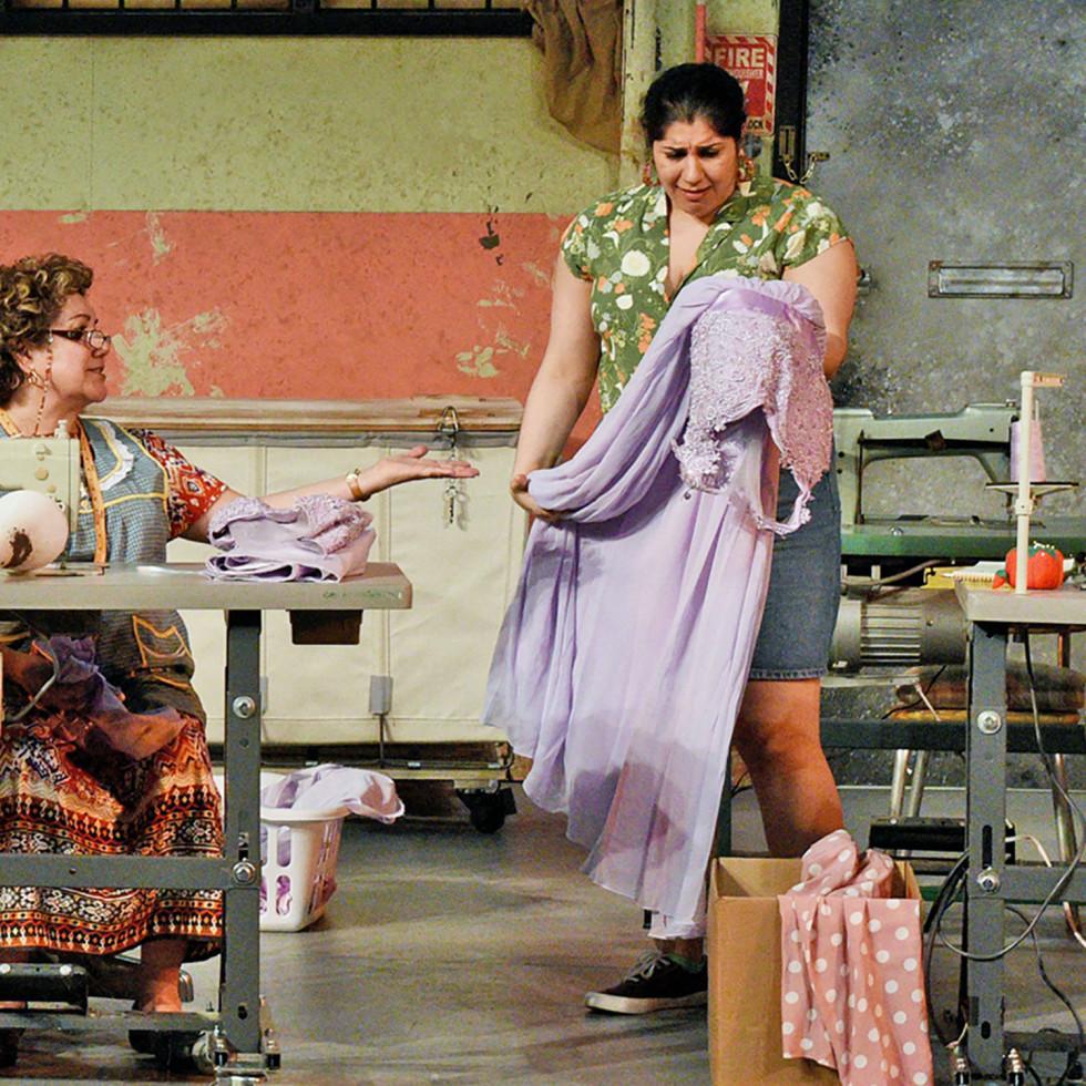 Blanca Araceli and Jamie Rezanour in Dallas Theater Center's Real Women Have Curves