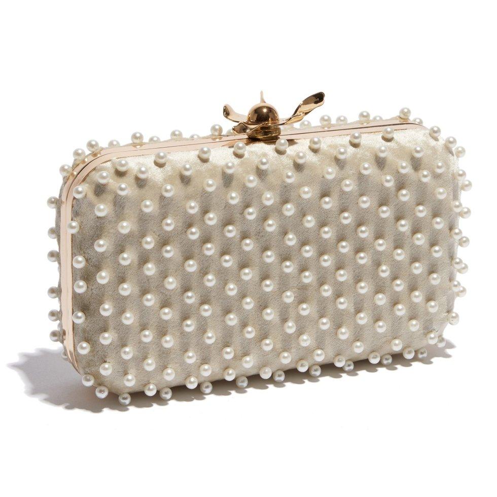 LeLe Sadoughi pearl clutch